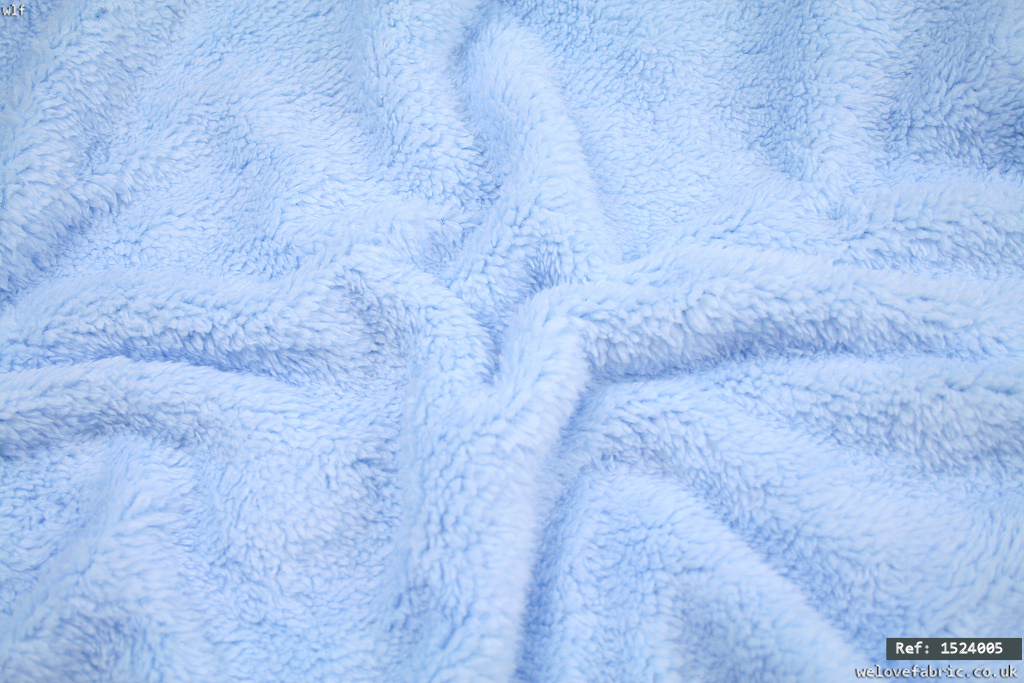 Soft faux fur simulated sheep fabric - Light blue [1524005]