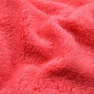 Faux fur simulated sheep plush fleece fabric - Salmon Pink (per meter)