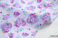 Small Purple Flowers 100% Cotton Fabric (per meter)