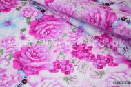 Lilac Cabbage Roses 100% Cotton Fabric (per meter)