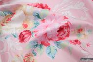 Shabby Chic Pink & Yellow Floral 100% Cotton Fabric (per meter)