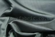 Plain Faux Silk Dupion 100% Polyester Black (per meter)