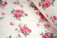 Pink Rose Flowers 100% Cotton Fabric (per meter)