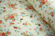 Rose Pink Roses 100% Cotton Fabric (per meter)