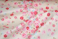 Pink Roses 100% Cotton Fabric (per meter)