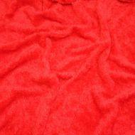 Faux fur simulated sheep plush fleece fabric - Red (per meter)
