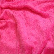 Faux fur simulated sheep plush fleece fabric - Hot Pink (per meter)