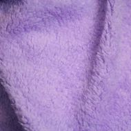 Faux fur simulated sheep plush fleece fabric - Violet (per meter)