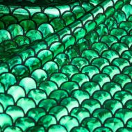 Green Mermaid Scales Spandex Fishtail Fabric Stretchy Fabric (per meter)