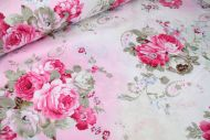 Large Pink Roses 100% Cotton Fabric (per meter)
