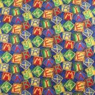 Merry Xmas Christmas Words 100% Cotton Fabric Designer Fat Quarter