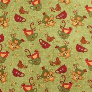 Benartex Green 100% Cotton Fabric Designer Fat Quarter