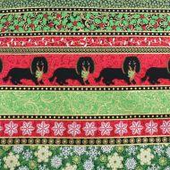 Fabricland Christmas Dogs 100% Cotton Fabric Fat Quarter