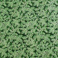 Fabricland Christmas Green Holy 100% Cotton Fabric Fat Quarter
