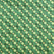 Fabricland Green Circles 100% Cotton Fabric Fat Quarter