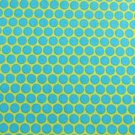 Green & Blue Designer 100% Cotton Fabric Fat Quarter