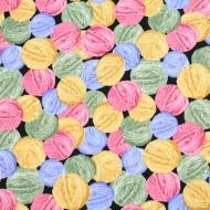 Elizabeth Studio Balls of Wool Cotton Quilting Craft Fabric Fat Quarter