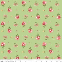 Riley Blake Designs Summer Blush Posie Premium Quality Quilting Craft Dress-making 100% Cotton Fabric per meter, 110cm width