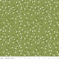 Riley Blake Designs Summer Blush Leaf Green Premium Quality Quilting Craft Dress-making 100% Cotton Fabric per meter, 110cm width