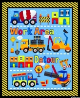Henry Glass Fabric My Favourite Trucks Work Area Cotton Fabric