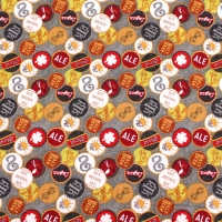 Bottle Tops Designer Craft Dress Making Quilting Bunting Top Qualtiy 100% Cotton Fat Quarter